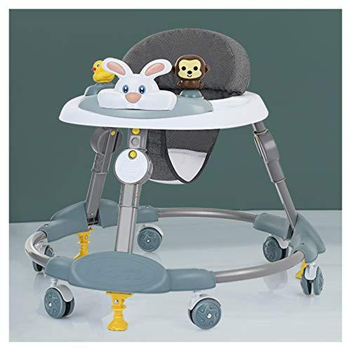 Olz Andador Plegable para bebé de Actividad, el más Nuevo Andador Ajustable de 8 Alturas para niños y niñas de 6 a 18 Meses, Asiento Acolchado con Respaldo Alto,A