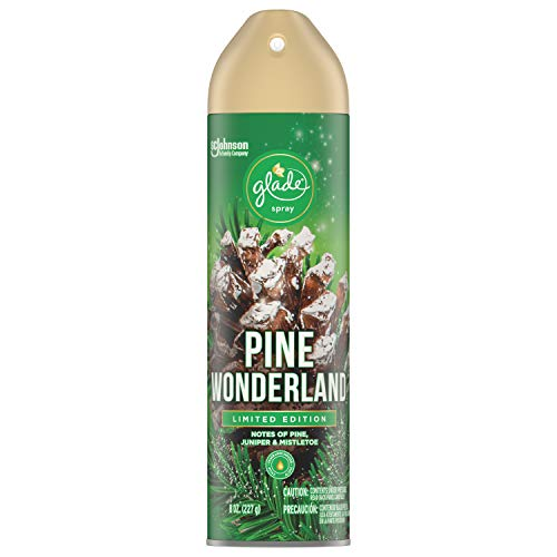 Glade Air Freshener Spray - Pine Wonderland - Holiday Collection 2020 - Net Wt. 8 OZ Per Can - One (1) Can
