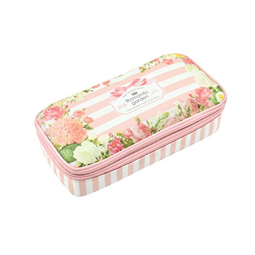 Twinkle Club Big Capacity Pencil Pen Case Bag Pouch Holder for Middle High School College Office Girl Storage Pink