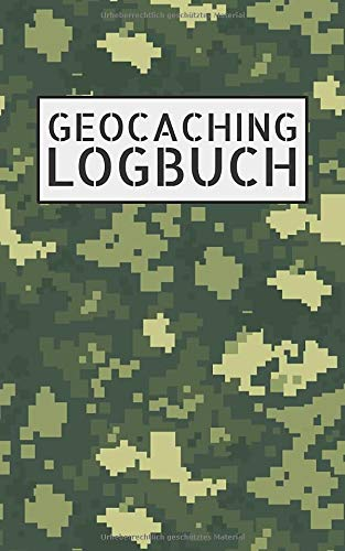 Geocaching Logbuch: Mini Notizbuch und Logbuch für Geocacher - Geocaching Zubehör und Ausrüstung Nano - Buch für 200 Eintragungen - Seiten ... Log als Versteck für Flasche oder Dose