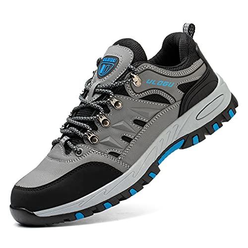 Scarpe Antinfortunistiche Uomo Donna con Punta in Acciaio Leggere Scarpe Sicurezza Traspirante Sneakers da Lavoro Blu 40-46EU