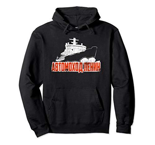 Sowjetisches Atombrecher-Eisbrecher-Kriegsschiff Pullover Hoodie
