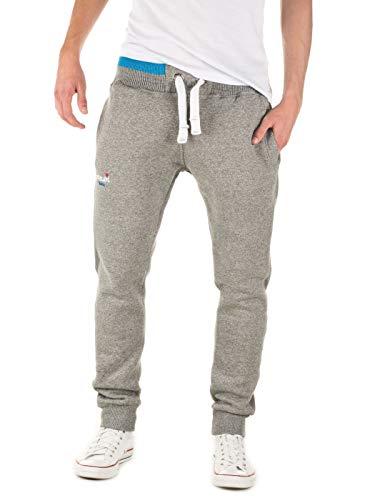 Yazubi Herren Jogginghose Lucas - graues Sweathose - Sweatpants Männer Trainingshosen Slim-Fit Jogginghosen Sport Hose, Grau (Caviar 194006), M