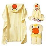 Baby Handtuch Kapuze Baby Badetücher Baumwolle für Baby Mädchen und Jungen Handtuch mit Kapuze weiches Kapuzenhandtuch Badetuch mit niedlichen Ohren für Babybaden Gelb