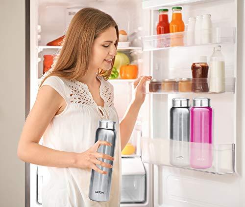 Milton Aqua 750 Stainless Steel Water Bottle, 750 ml, Silver, 1 Piece