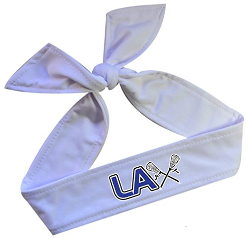 Funny Girl Designs Lacrosse Headband Featuring LAX Graphic on Moisture...