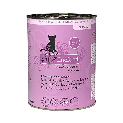 catz finefood N° 11 Lamm & Kaninchen Feinkost Katzenfutter nass, verfeinert mit Cranberries & Karotte, 6 x 400g Dosen
