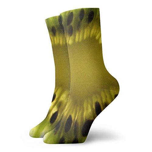 Drempad Calcetines de Vestir Unisex Kiwi Close Up Funny Polyester Crew Socks 11.8 Inch