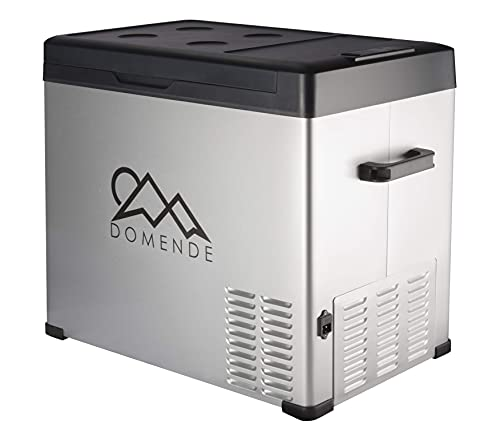 Domende 54qt Car Refrigerator Portable Freezer 12 volt Cooler Electric Compressor Cooler Car Fridge for Car Truck Vehicle RV Boat Outdoor and Home use 12/24V DC and 90-250 AC,Cooling to -4F