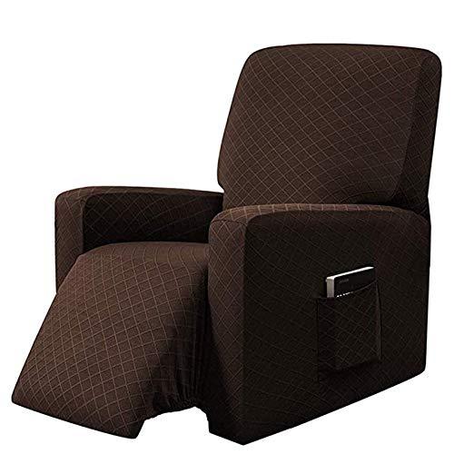 YWTT Funda para sillón de Orejas de Jacquard Fundas de sofá Suaves elásticas universales elásticas Fundas de sillón de Orejas de 2 Piezas con Brazos extraíbles Fundas para Muebles (Vino Tinto)