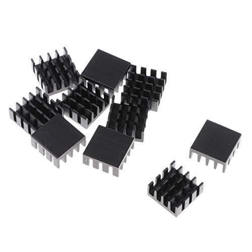 MagiDeal 10 Paquetes de Almohadilla Térmica para Disipador Térmico de CPU GPU, 14x14x7 Mm, Aluminio