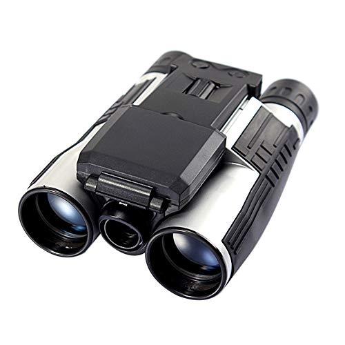 Lixada Appareil Photo numérique Jumelles Jumelles d'enregistrement vidéo Multifonctions pour Le télescope extérieur 12x32 Haute définition avec écran LCD