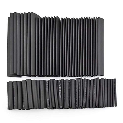 Geepro 508Pcs nera degli strizzacervelli di calore del tubo Assortimento Wire Wrap elettrico cavi Tubi Guaine