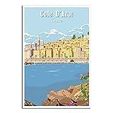 Cote D'Azur Poster, französische Riviera, Vintage,