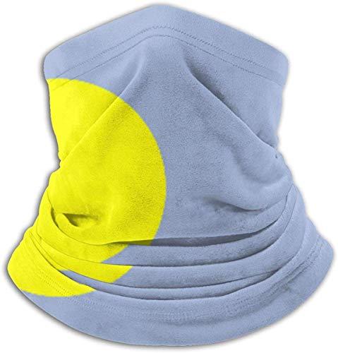 congminbai Schlauchschal Herren,Halswärmer Warm Palau Flag Neck Warmer For Men Women Ski Neck Gaiter Cover Face Mask Windproof