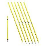 Bluedot Trading Soccer Agility Training Poles, Adjustable Telescopic, 3ft-6ft (4pc)