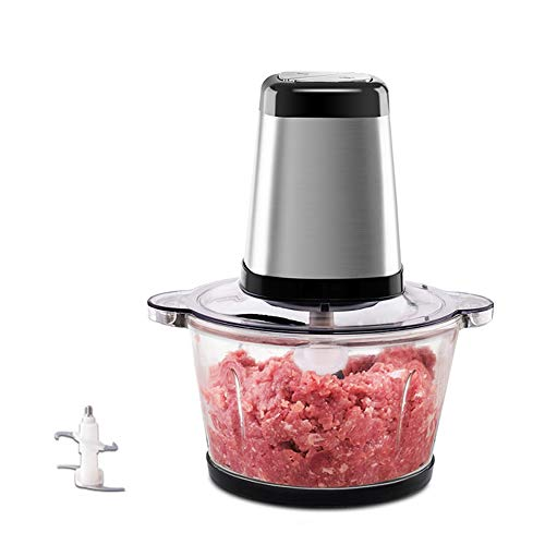 Food Processor-Food Processors best Rated Meat Grinder Vegetable Chopper Food Chopper Garlic Chopper Household Electric Small Stainless Steel Multifunctional Mixer 2L Food Processor 200W