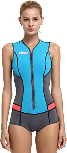 Cressi Idra Neoprene Swimsuit 2mm - Damen Swimming Wetsuit Neopren Badeanzug 2mm Neoprenanzug