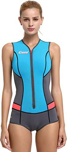 Cressi Idra Swimsuit Traje de baño de Neopreno 2 mm para Mujer, Azul Claro, S/2
