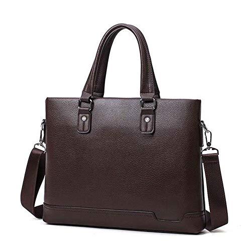 CttiuliGwb Computer Bag, Men's Briefcase Black Casual Bag Leather Briefcase Men's Tote Bags Brown (Color : 2)