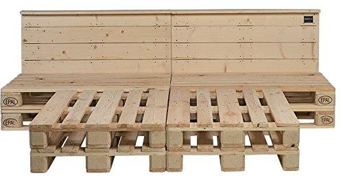 Schroth Home PALoma Palettenbett 160 x 200 – Euro Paletten Bett mit Kopfteil – Holz Palette geschliffen – Bett selber Bauen - kein lästiges Schleifen mehr