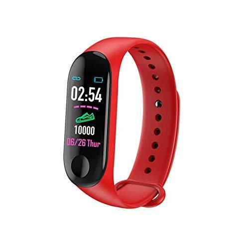 FHKBB Pulsera Inteligente Ritmo cardíaco Monitorización de la presión Arterial Podómetro Impermeable Pulsera Deportiva Bluetooth