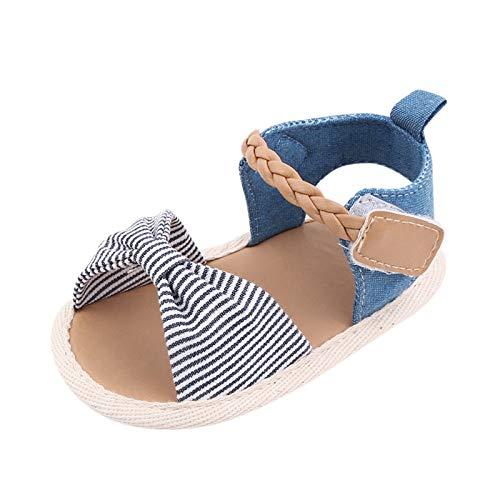 YWLINK Zapatos para NiñOs PequeñOs Antideslizantes con Fondo Suave, Resistentes Al Desgaste, con Lazo A Rayas, Zapatos De Playa, Sandalias, Zapatos Romanos,Zapatos Transpirables