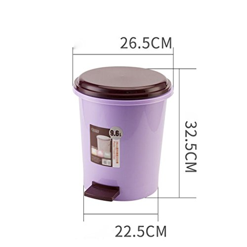 Xuan - worth having Creative Home Foot Poubelle Cuisine Salle de bain Toilette Chambre couvercle en plastique Pédale Poubelle Poubelles (Couleur : Purple)