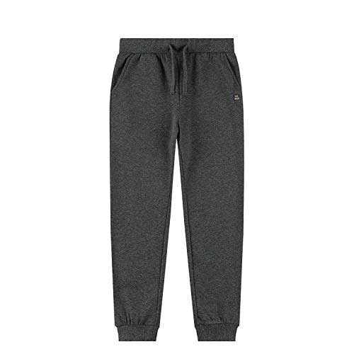 SPACE VENTURE Kids Soft Brushed Fleece Sweatpants Casual Joggers Athletic Pants for Boys or Girls (Dark Grey,L)