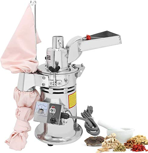 CGOLDENWALL DF-15 Commercial Grain Grinder Mill Industrial Automatic Continuous Hammer Feeding Herb Grinder Herb Mill Pulverizer Capacity 15kg/h Rotate Spend 20000r/min