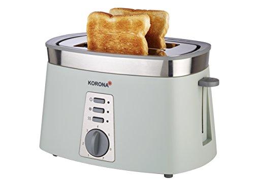 21206 Toaster, 2 Scheiben, farbig in stein-grau, auftauen, rösten, aufwärmen, 920 Watt, Brötchen-Aufsatz, Krümel-Schublade, Brotscheiben-Zentrierung