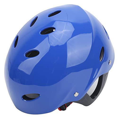 Equipo de protección, casco de surf resistente al desgaste con circunferencia de la cabeza ajustable, suministros de protección para deportes acuáticos de rescate en el agua