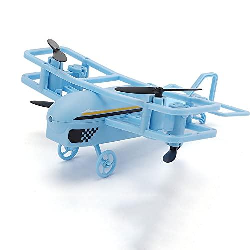ZDYHBFE Sensor De Gravedad Control Remoto Dual Avión De Dibujos Animados 2.4G Drone Inteligente De Altura Fija Reloj Planeador RC Inalámbrico Eléctrico Helicóptero De Control Remoto Dual