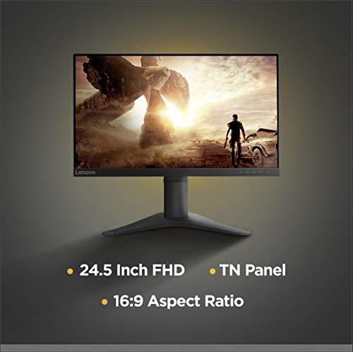 Lenovo 25-inch FHD Gaming Near Edgeless Monitor, 144Hz, 1ms, 400 Nits Brightness, AMD FreeSync, TUV Certified Eye Comfort - G25-10...