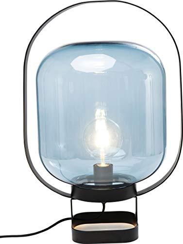 Kare Design Tischleuchte Jupiter Blau, moderne Tischlampe, Nachttischlampe, Wohnzimmerlampe, Lampe, Leuchte für den Tisch oder die Kommode (H/B/T) 54x35x30cm