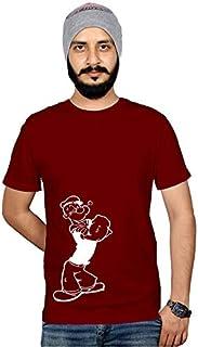 Workshop POPOYE Men's T Shirts Cartoon Funny Trending Tshirt Cotton Graphic Tee Shirt Round Neck Tshirts Cool Shirt