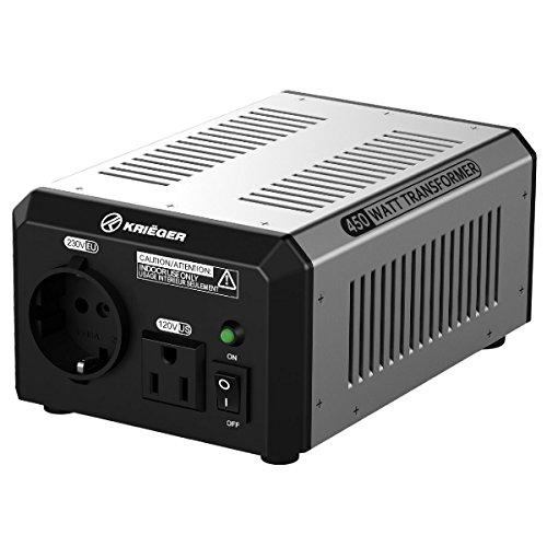 KRIEGER 450 Watt Spannungswandler 110/120V - 220/230V mit CE/UL/CSA Zulassung