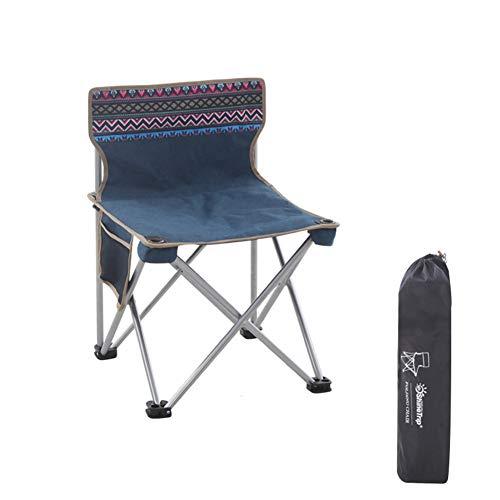 WANGLXFC Draagbare Vouwstoel, Outdoor Vrije tijd Vouwen Camping Stoel, Lichtgewicht Draagbare Opvouwbare Zit, Ultra Licht Tuinstoel, Stoel met Draagtas Relax