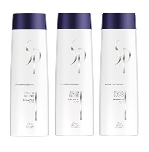 Wella SP Silver Blond Shampoo 3 x 250 ml System Professional Care Expert Kit