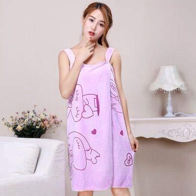 MGHN toallas Variedad pueden vestir for adultos Bath Damas Toalla tapa del tubo de la impresión de la correa de la falda de baño atractivo de la historieta del salón de belleza de tratamiento al vapor