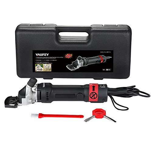 Yaufey® 350W Pferdeschermaschine Schermaschine für Pferde Schermaschine Set Schermaschine Schafe Fellpflege Schafschere Farm Clipper, 350W