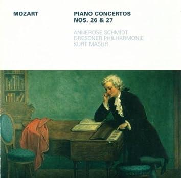 Wolfgang Amadeus Mozart: Piano Concertos Nos. 26 and 27 (Schmidt, Dresden Philharmonic, Masur)