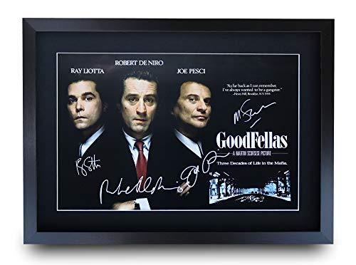 HWC Trading Goodfellas A3 Incorniciato Firmato Regalo Visualizzazione delle Foto Print Immagine Autografo Stampato per Gli Appassionati di Cinema
