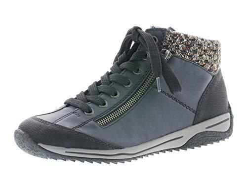 Rieker Damen L5223 Mode-Stiefel, blau-kombi, 36 EU