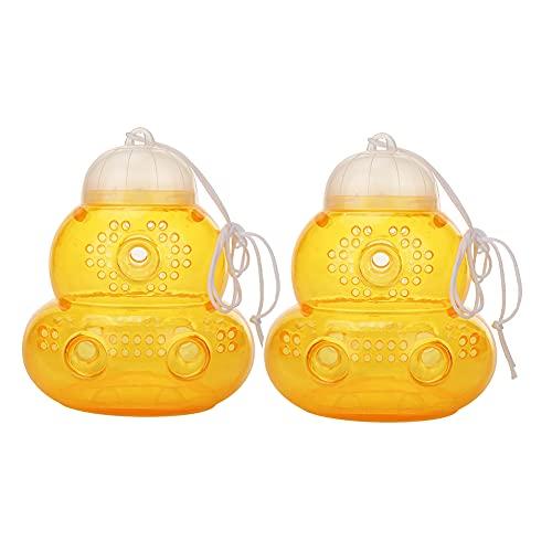 LYEAA Wespenfalle in Kürbisform, Wespenfänger, gelbe Bienen, Bienenstock-Fänger, Flasche, Honigtopf, Imkerei-Werkzeug, Hornet-Falle für drinnen und draußen (2 Stück Stil A)