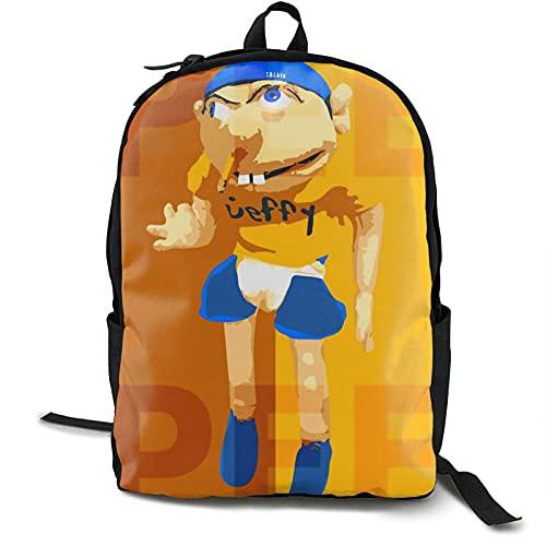 Yaxinduobao Sml Jeffy Mochila juvenil Bolso de hombro para la escuela Mochila de moda Mochilas escolares duraderas para niños y niñas