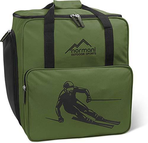 normani Skischuhtasche mit separatem Helmfach und Rucksackfunktion Alpine DEPO Farbe Oliv