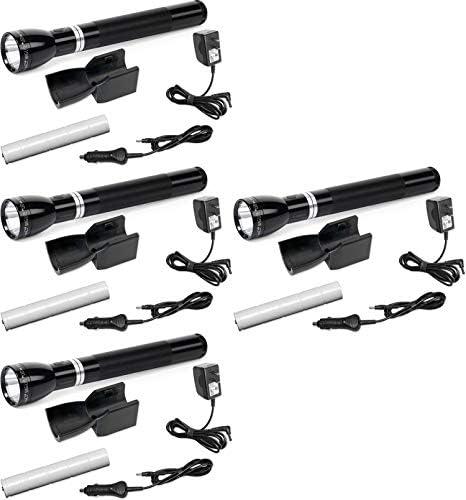 Maglite RL1019 LED Rechargeable Flashlight System with 120V Converter & 12V DC Auto Adapter, Black - ML65017-BRK