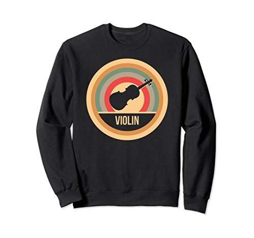 Retro Vintage Violine Geigen Geschenk für Violinisten Sweatshirt