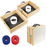 Best Choice Products Wood Washer Toss Game Set Outdoor Backyard Party Games